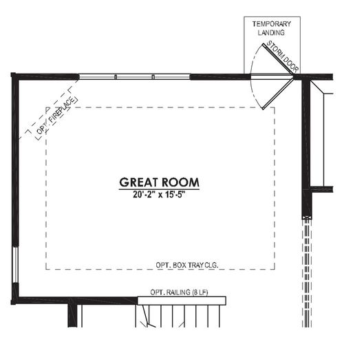 Optional Great Room 4 Foot Bump Out