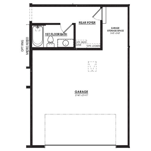 Optional Rear Foyer with Full Bathroom