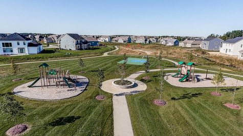 New homes in Summit WI around community space