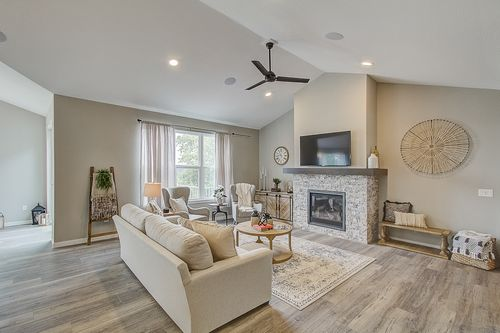Hearth room by Wisconsin home builders, Tim O'Brien