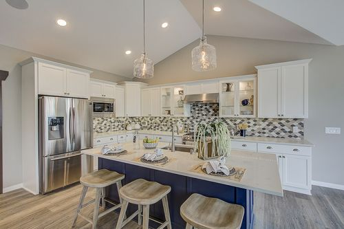 White kitchen by home builders, Tim O'Brien Homes