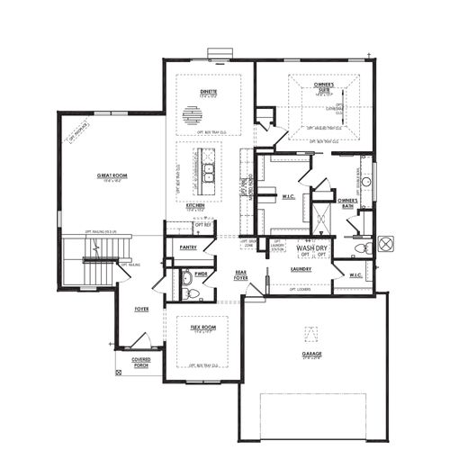 Birchwood First Floor Plan Drawing