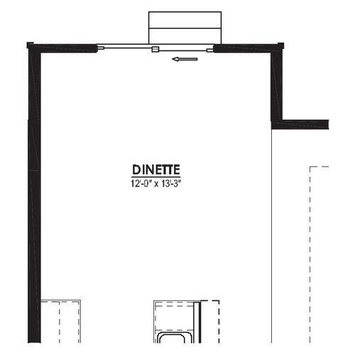 Optional Dinette 4 Foot Bump