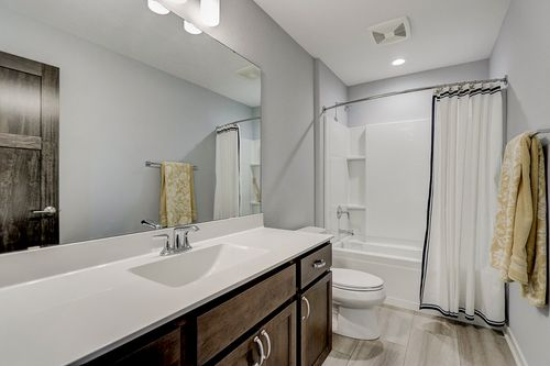 Modern bathroom by Wisconsin home builders Tim O'Brien