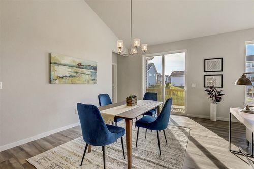 Dinette in a Madison new home by Tim O'Brien