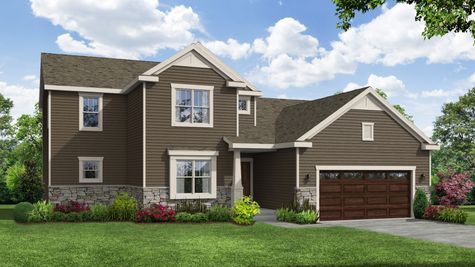 Sweetbriar Craftsman Front Elevation Rendering