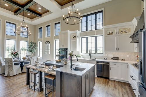 Open dining area in a new home by Tim O'Brien builders in Wisconsin