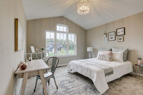 Pretty girls bedroom by home builders Tim O'Brien Homes