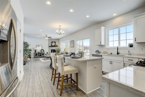 Open floor plan in a Tim O'Brien home near Madison WI