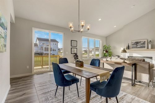 Dining room in a new home by Tim O'Brien