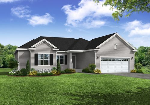 Holly French Country Front Exterior Rendering