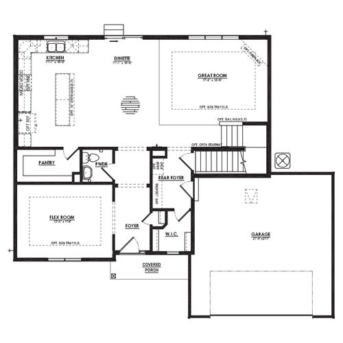 Evergreen First Floor Plan Drawing