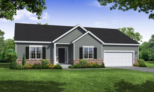 Front Exterior Rendering of Arbordale Traditional Elevation