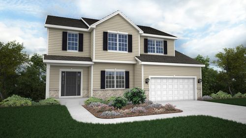 Silverwood Traditional Front Elevation Rendering