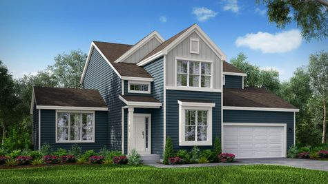 Monterey Farmhouse Front Elevation Rendering