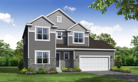 Ivy Craftsman Front Elevation Rendering