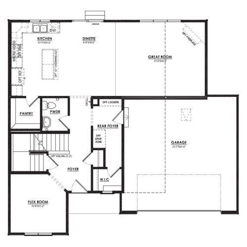 Ivy First Floor Plan Drawing