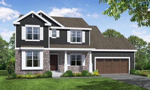 Hickory Craftsman Front Elevation Rendering