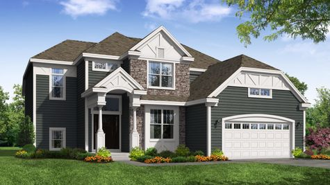 Birchwood English Front Elevation Rendering