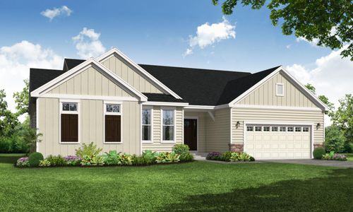 Savannah Farmhouse Front Elevation Rendering