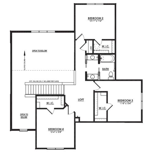 Drawing of Azalea Second Floor Plan