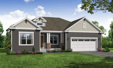 Juniper Craftsman Front Elevation Rendering