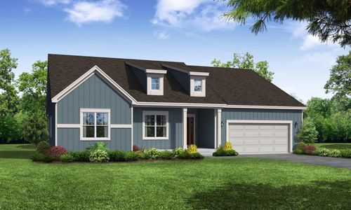 Sage Farmhouse Front Elevation Rendering