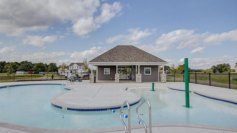 Pool near new homes in Summit WI