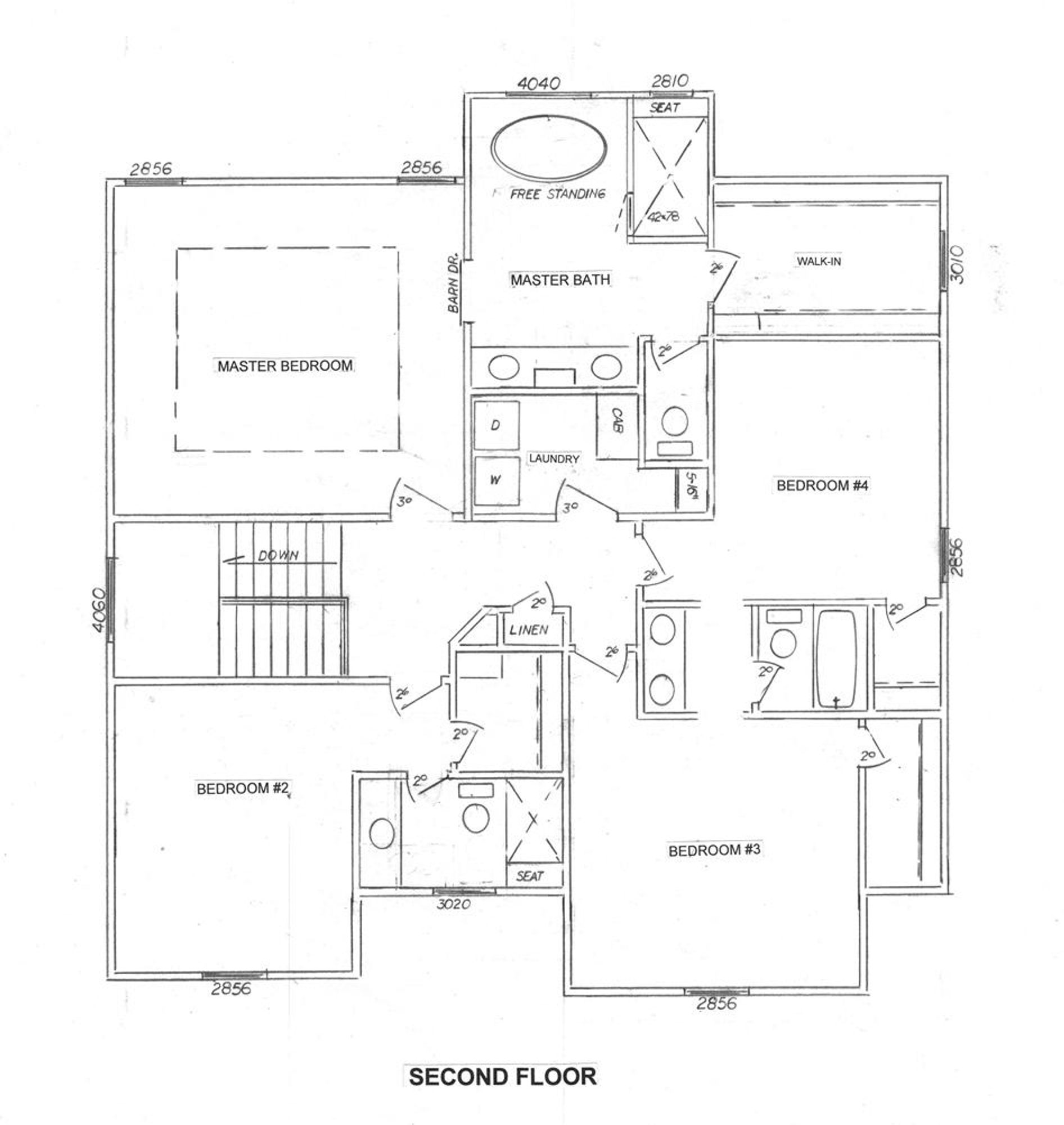 Dylan Upper Level Floor Plan