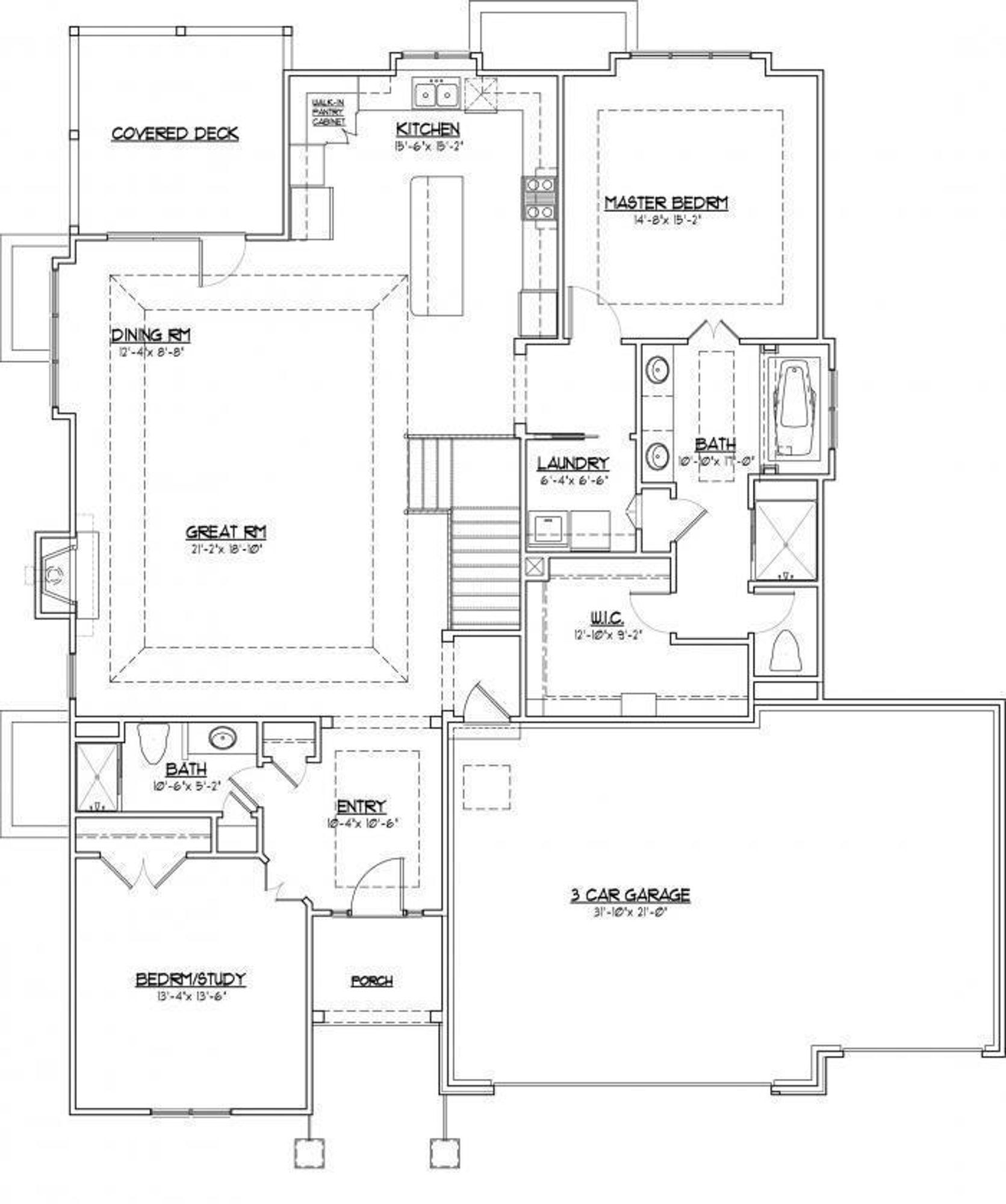 VHR Brookwood Main Level footprint