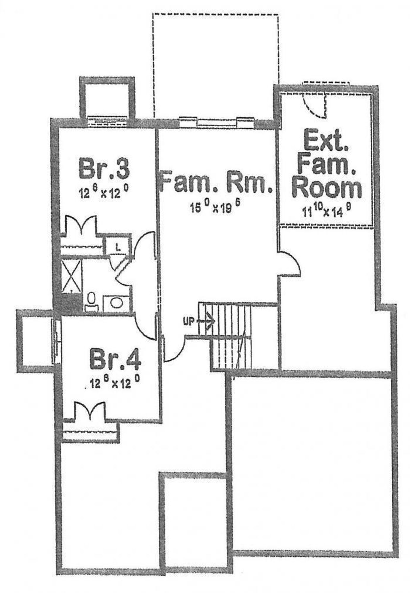 Brentwood lower level footprint