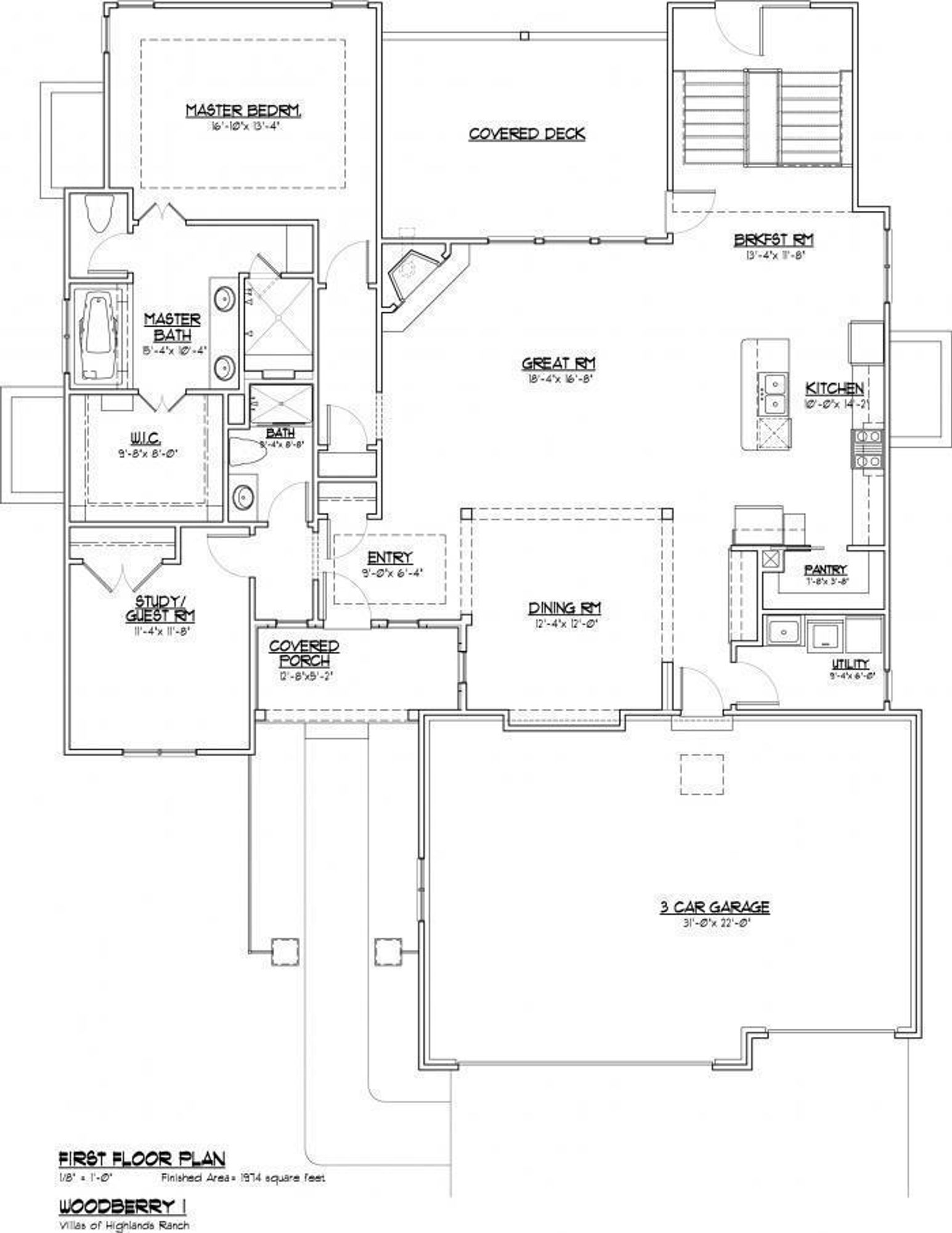 VHR The Kendalwood main level footprint