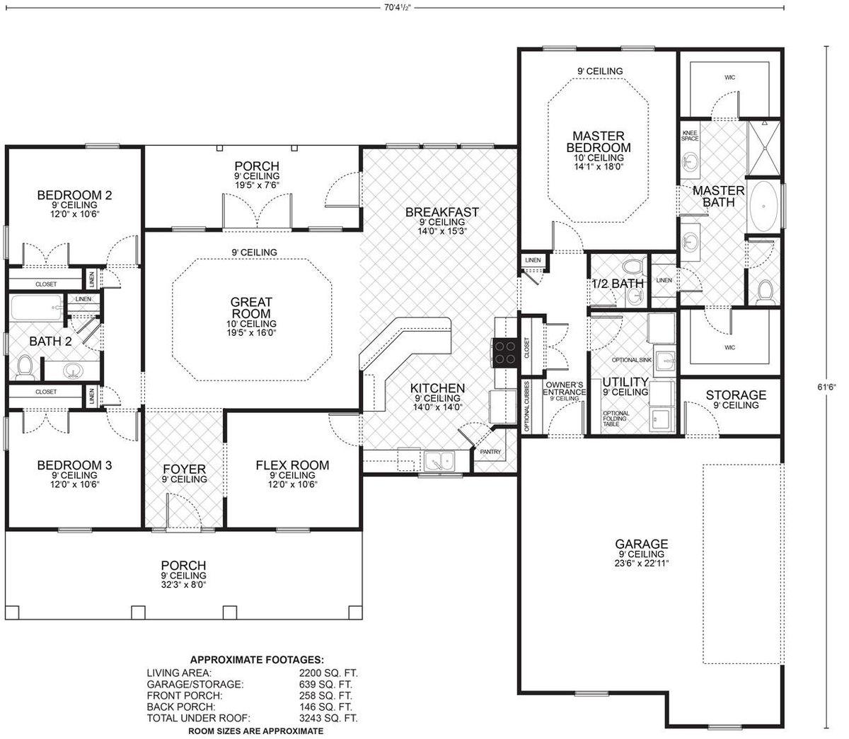 Hillcrest B Floor Plan