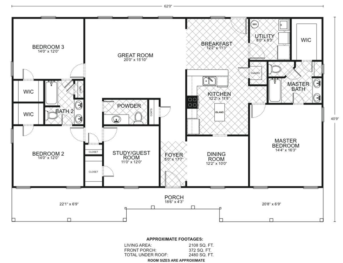 Ponderosa B Floor Plan