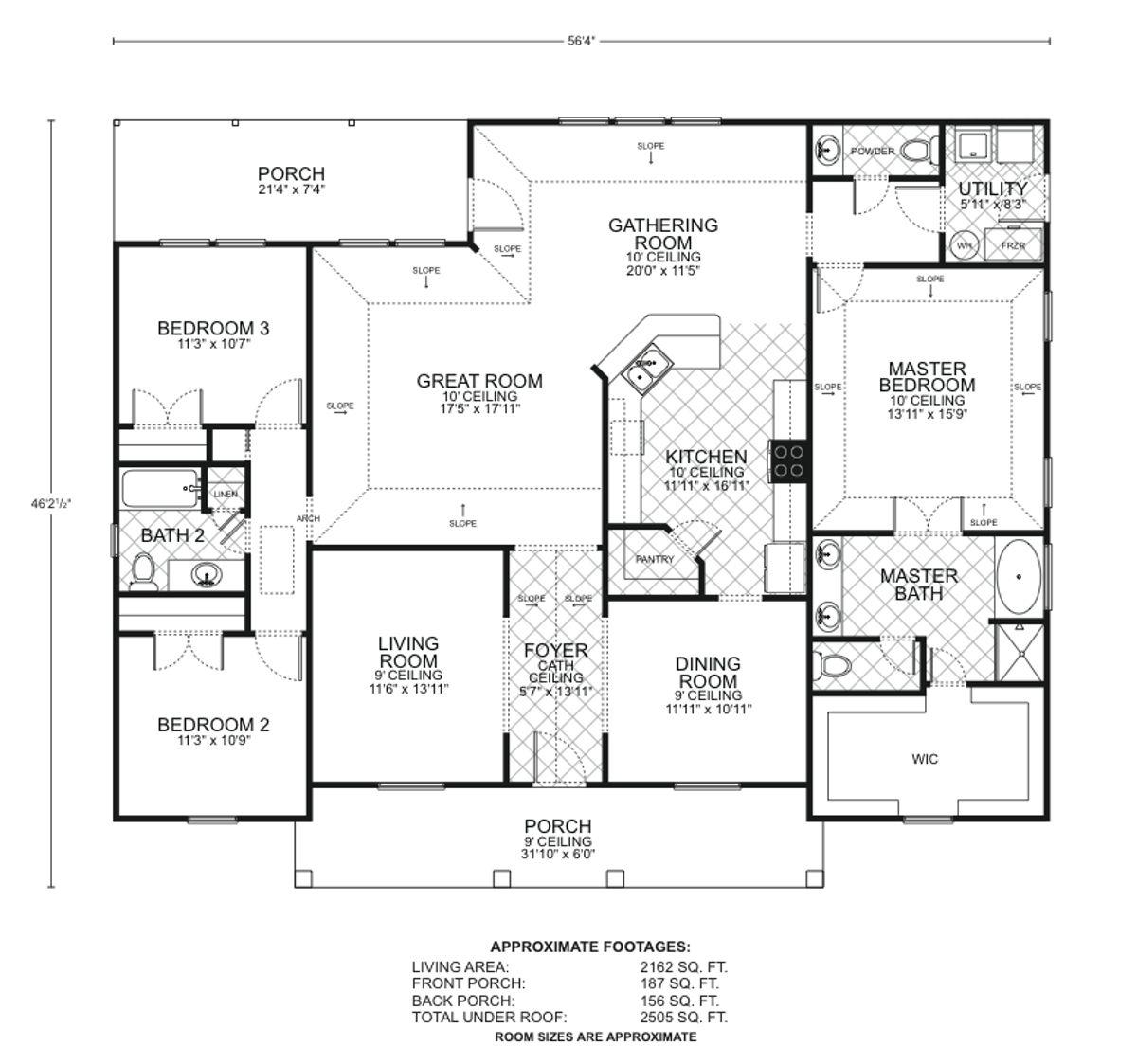 Cottage II Floor Plan