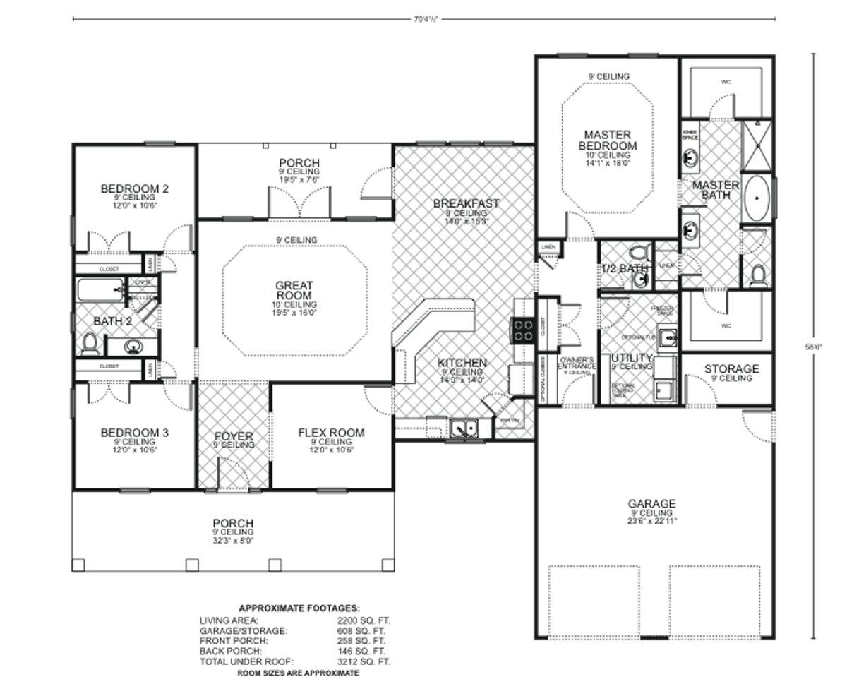 Hillcrest Floor Plan