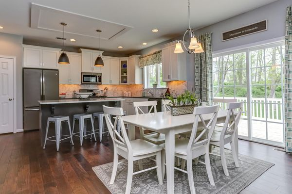 kitchen in a new home community, townsend fields, in dover, de