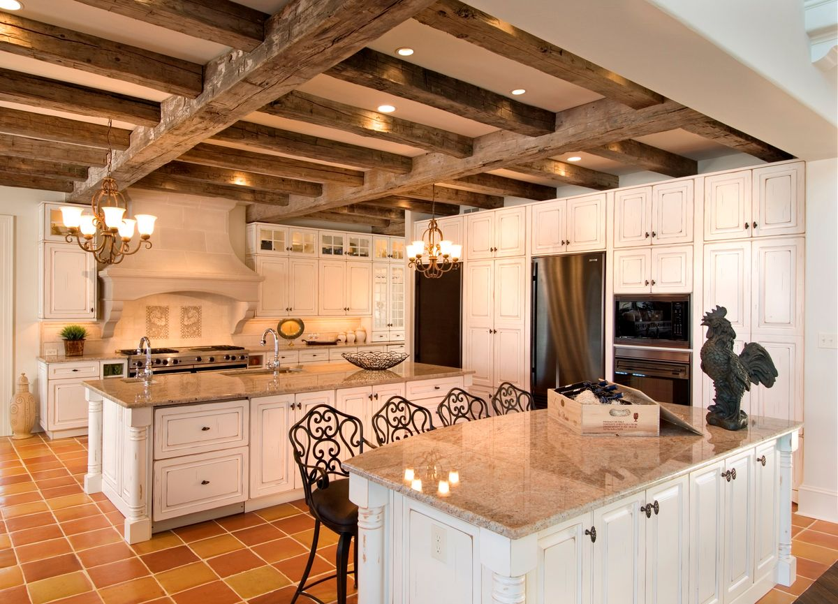 Distinct kitchen in a custom home in Chester County PA