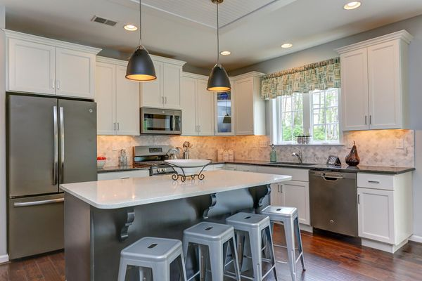 new kitchen in a new home in dover, DE by wilkinson homes